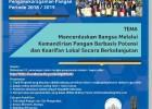 [INFO] Program Penghargaan Bagi Peneliti Unggul Bidang Penganekaragaman Pangan Periode 2018/2019